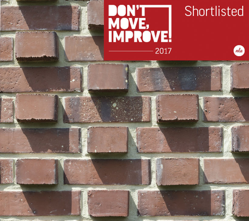 Lacy Brick has been shortlisted for the prestigious Don't Move Improve! 2017 Competition